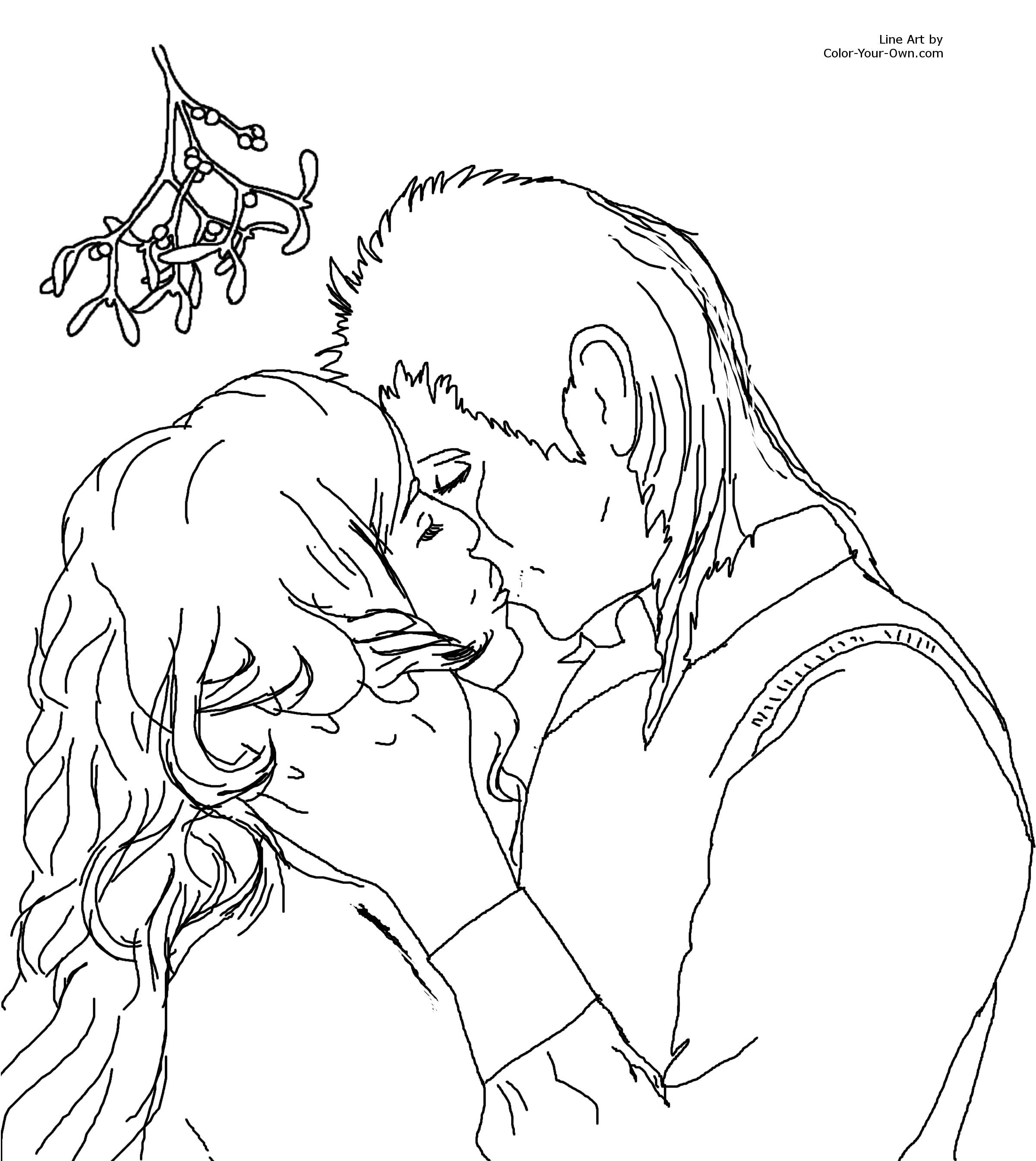 christmas mistletoecoloring pages az coloring pages