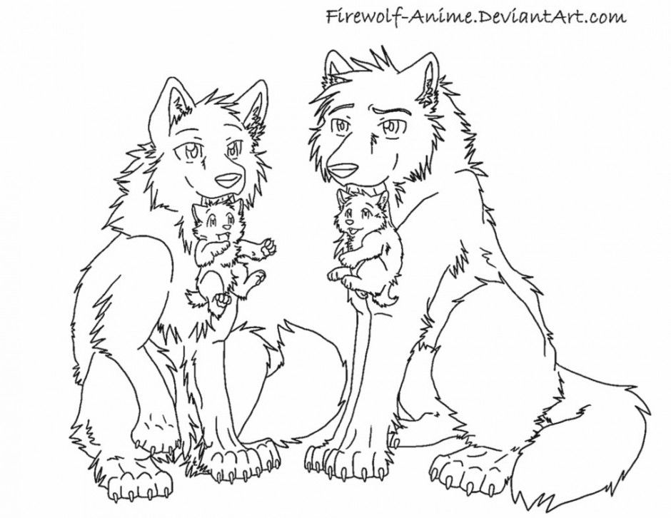 anime wolf pack coloring pages az coloring pages