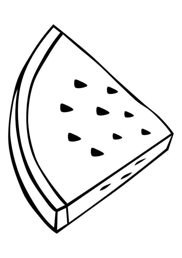triangle slice watermelon coloring pages for kids great coloring