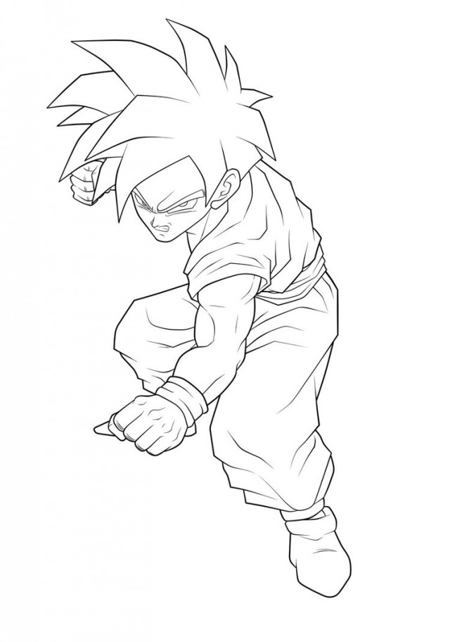 goten png - Dragon Ball Coloring Pages Future Trunks And Gohan ... | 912x640