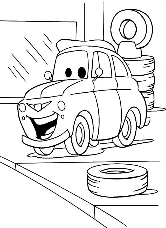 download smiling disney cars coloring pages or print smiling