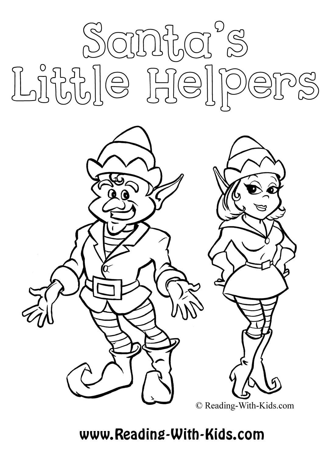 Printable Girl Elf On The Shelf Coloring Pages