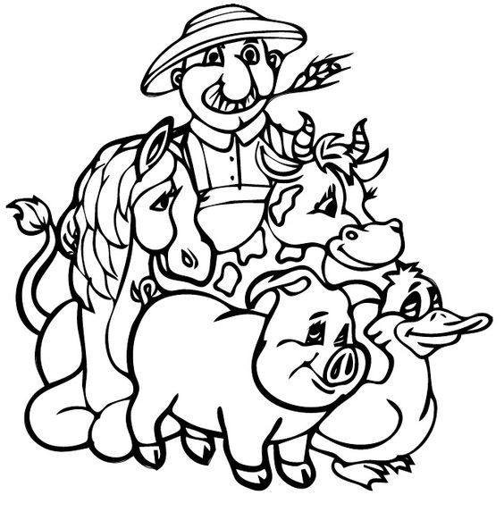 old macdonald had a farm coloring pages az coloring pages