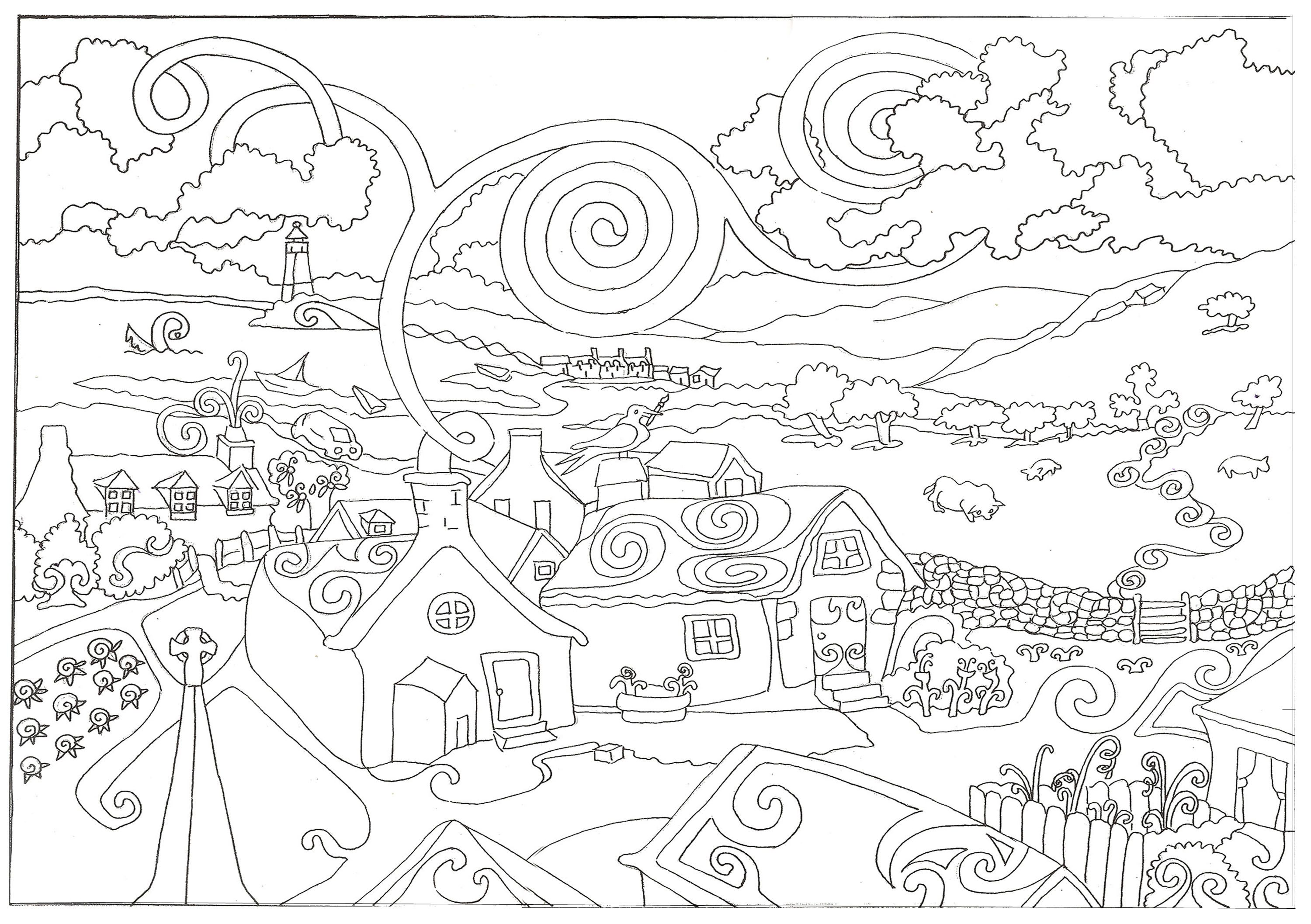 hard halloween coloring pages for adults az coloring pages