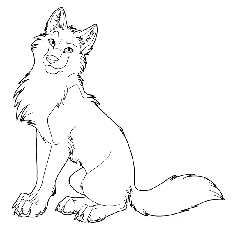 coloring pages of anime wolves az coloring pages