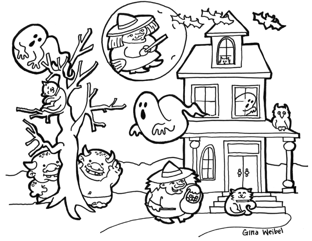 hard halloween coloring pages az coloring pages