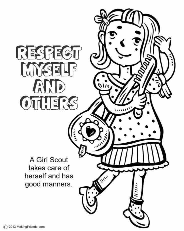 girl scout coloring az coloring pages