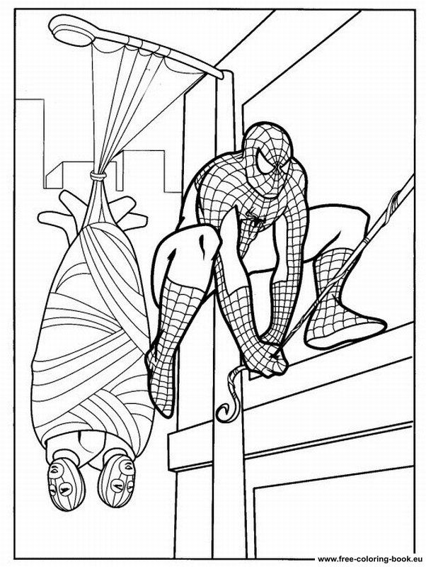 coloring pages spiderman page 1 coloring pages online