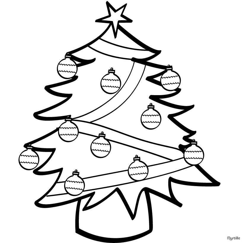 christmas tree color page az coloring pages