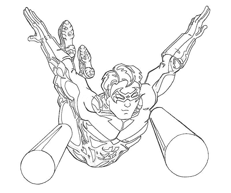 nightwing coloring pages az coloring pages
