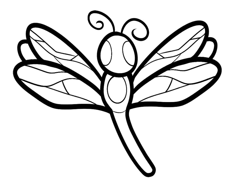 Dragonfly Pictures To Color Dragonfly Coloring Book Pages