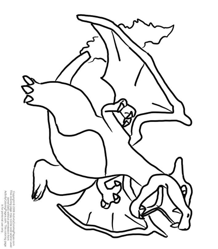 charizard coloring page az coloring pages