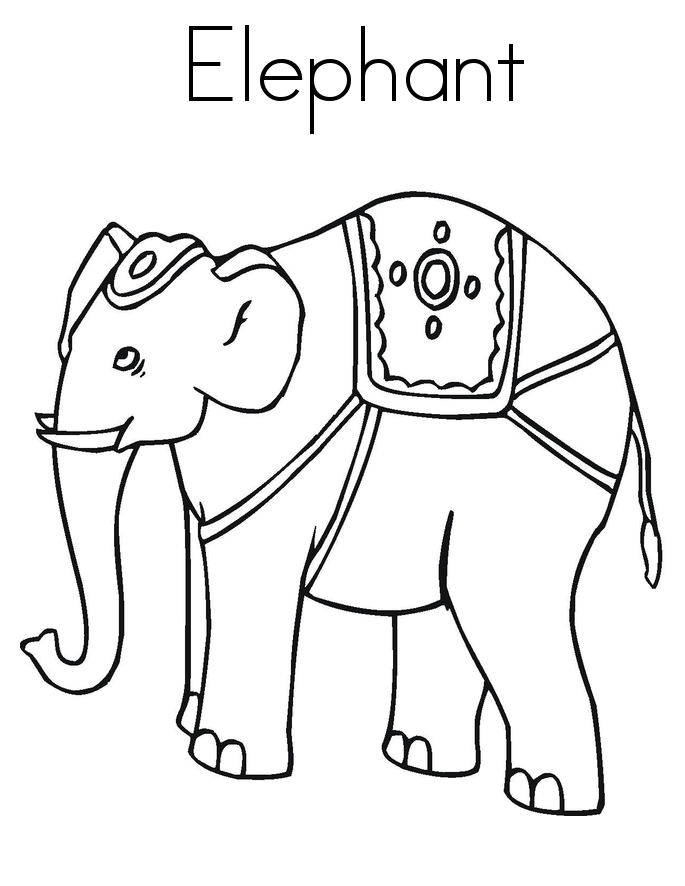 free coloring pages of elephant elmer