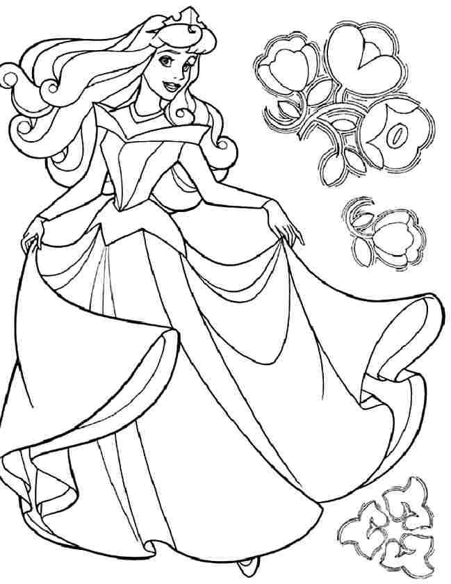 Disney Princess Aurora Coloring Pages Coloring Home