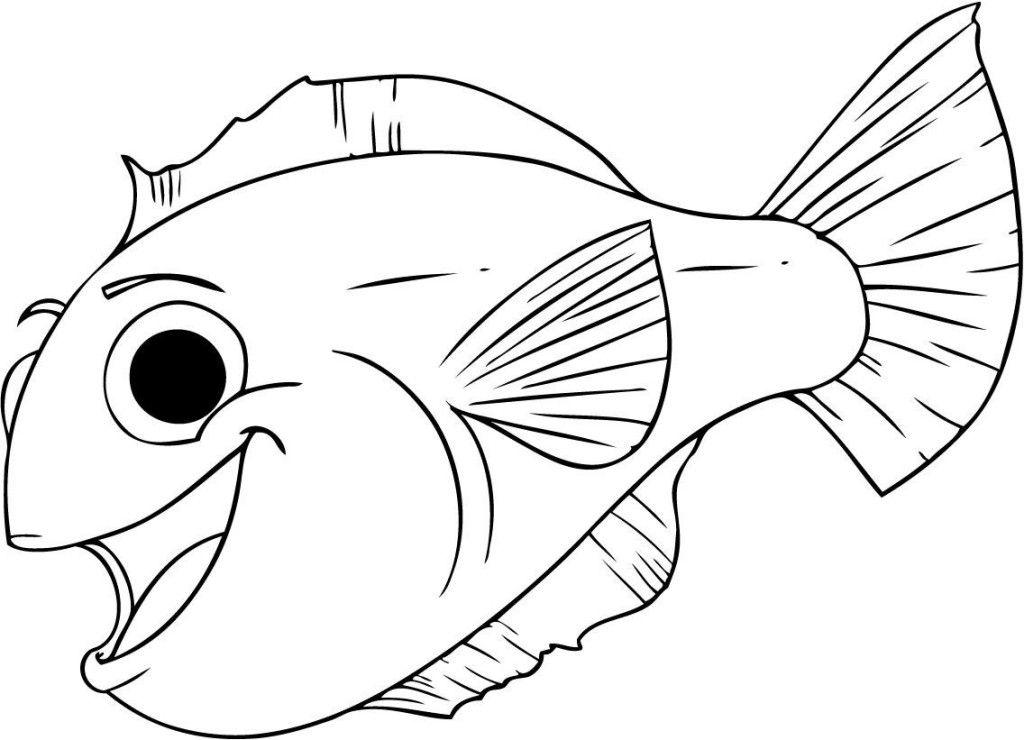 Cute Fish Coloring Pages For Kids From The Finding Nemo Movie ... | 740x1024