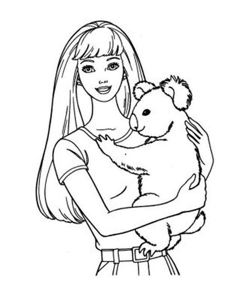 barbie coloring book pages az coloring pages