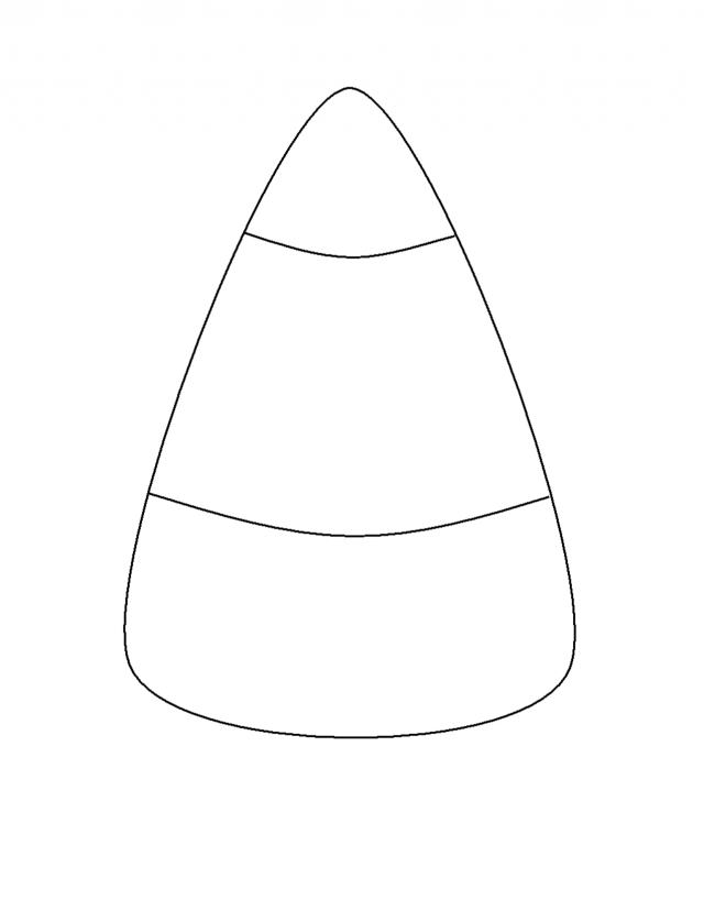candy corn coloring page az coloring pages