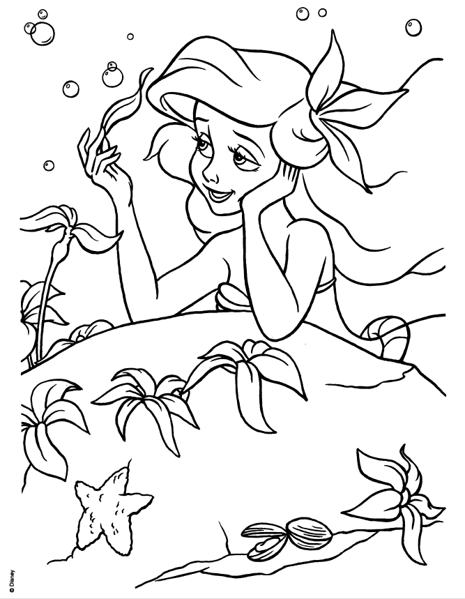 disney princess ariel in a dress coloring pages hicoloringpages