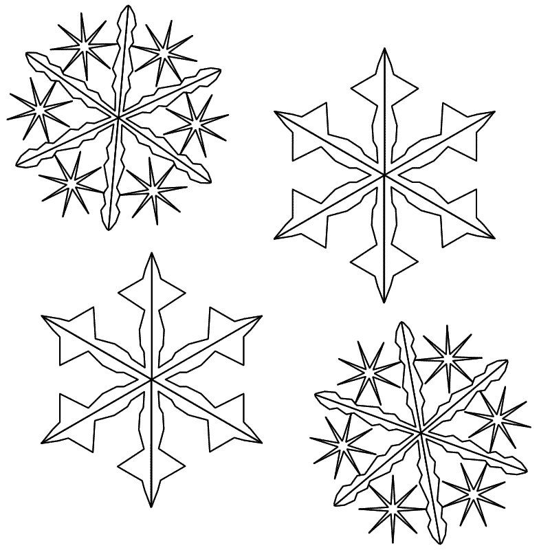 snowflakes coloring page az coloring pages