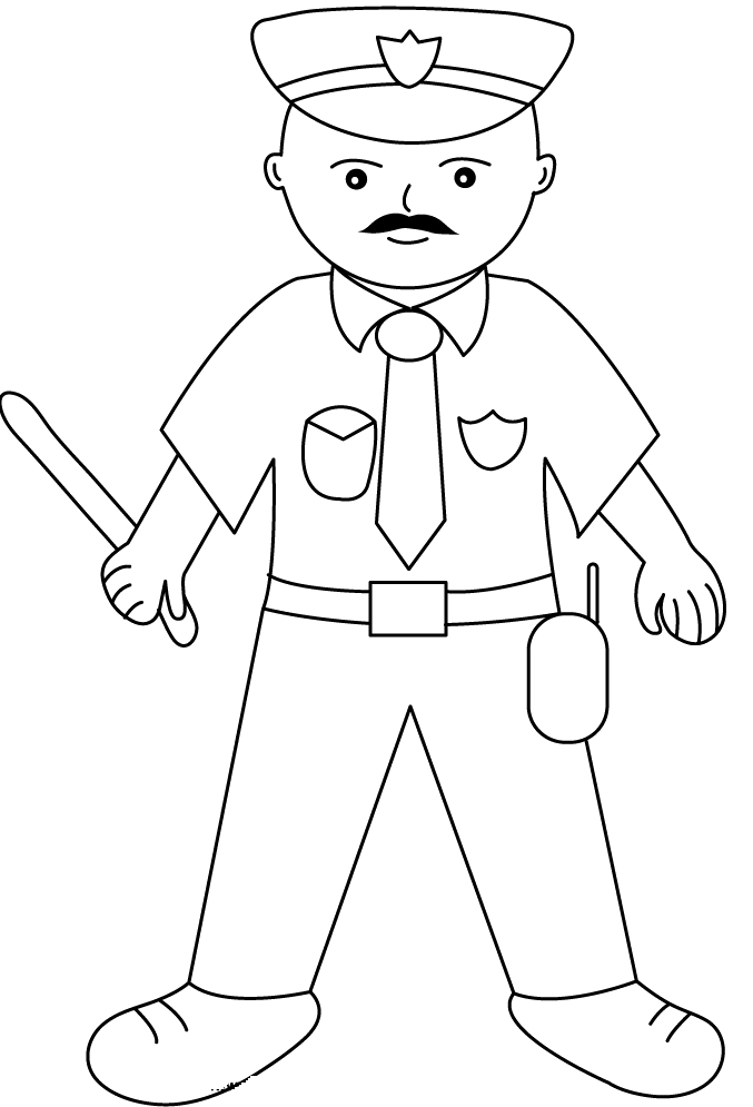 police hat coloring pages printable coloring pages