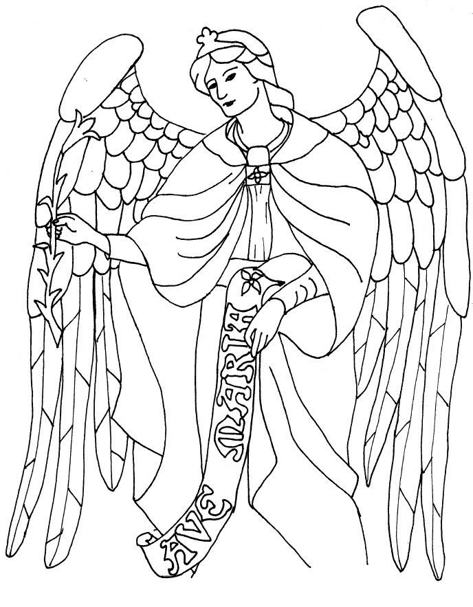free angel coloring pages az coloring pages
