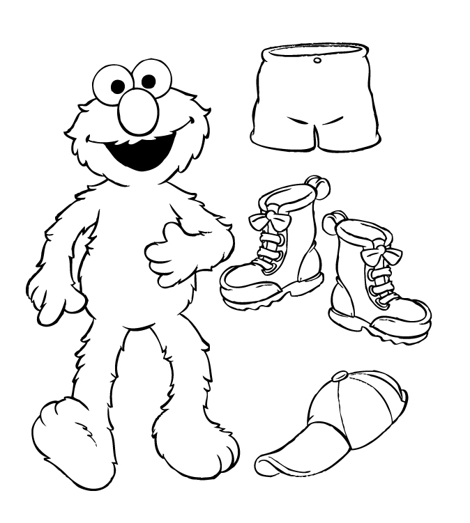 Free Printable Sesame Street Coloring Pages Free Free Elmo