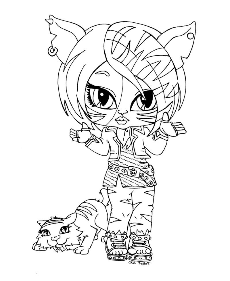 monster high doll coloring pages az coloring pages