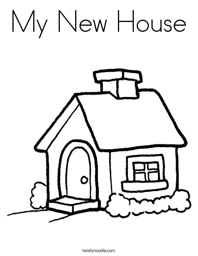 coloring pages of houses az coloring pages