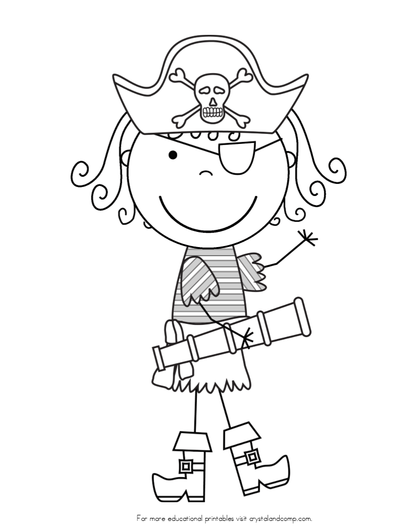 girl pirate coloring pages az coloring pages