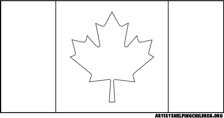 canada flag coloring page az coloring pages
