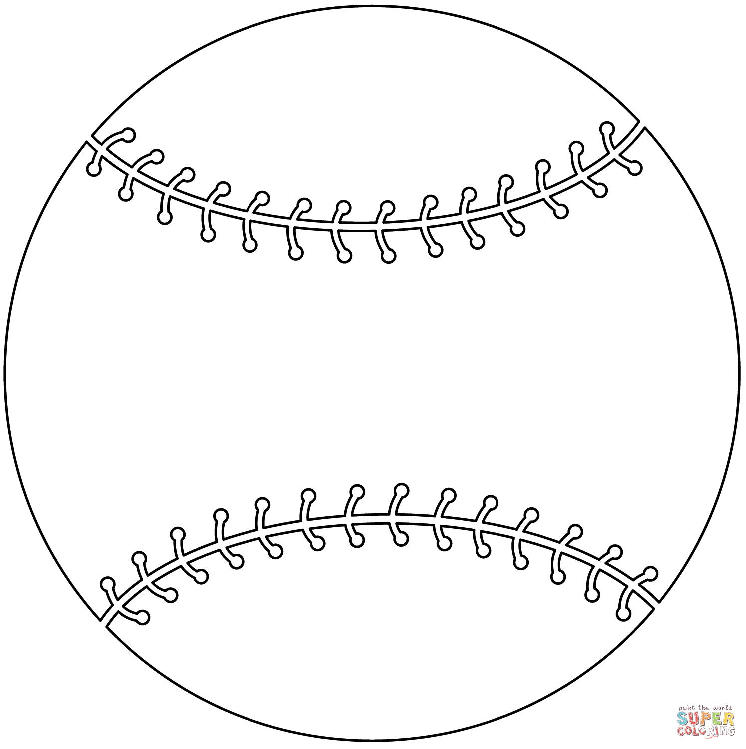 Coloring Page Of Bat And Ball