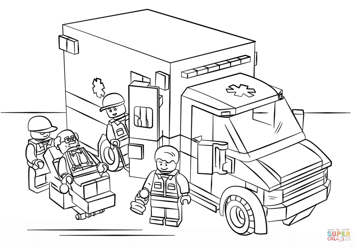 ambulance coloring page az coloring pages