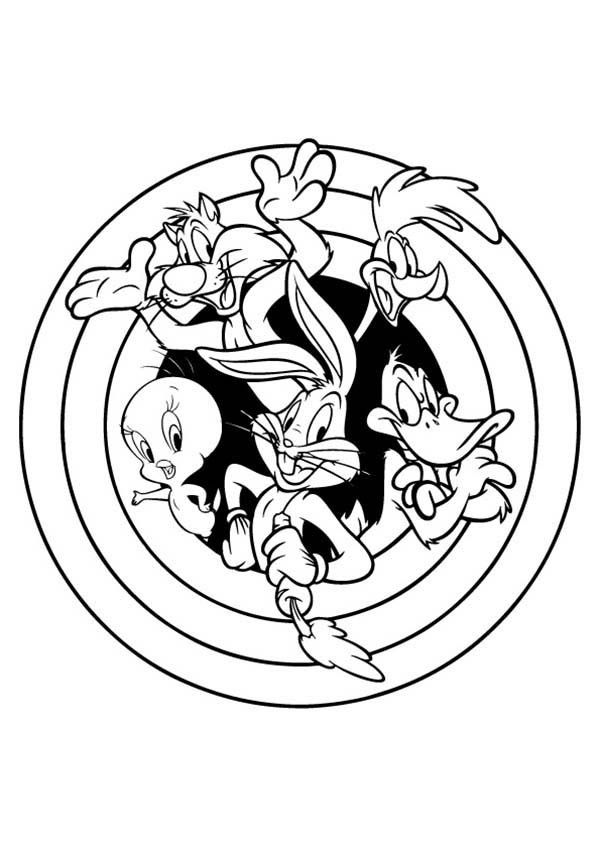 space jam coloring pages bugs bunny baseball hairstylegalleries