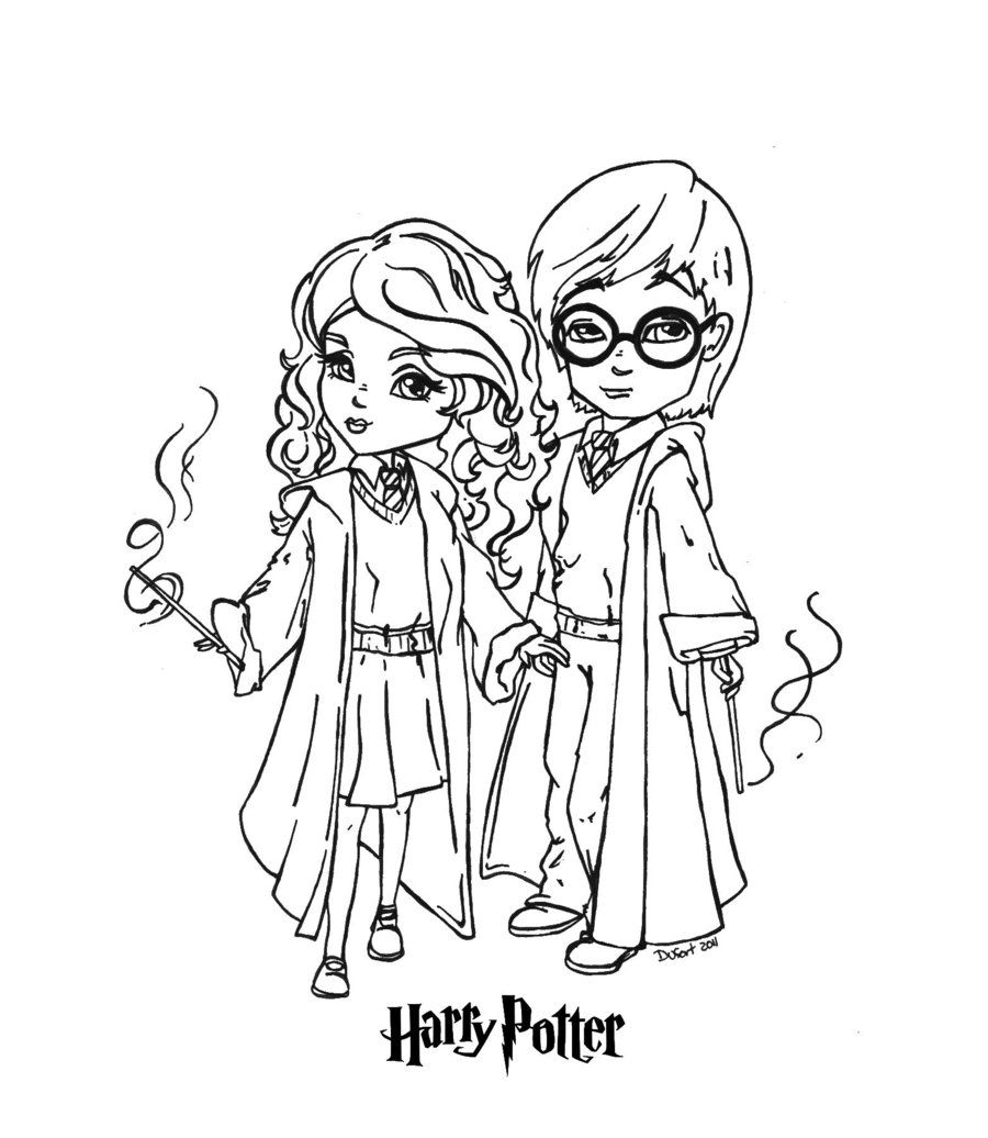 Best Of Chibi Harry Potter Coloring Pages | bigbrowndog