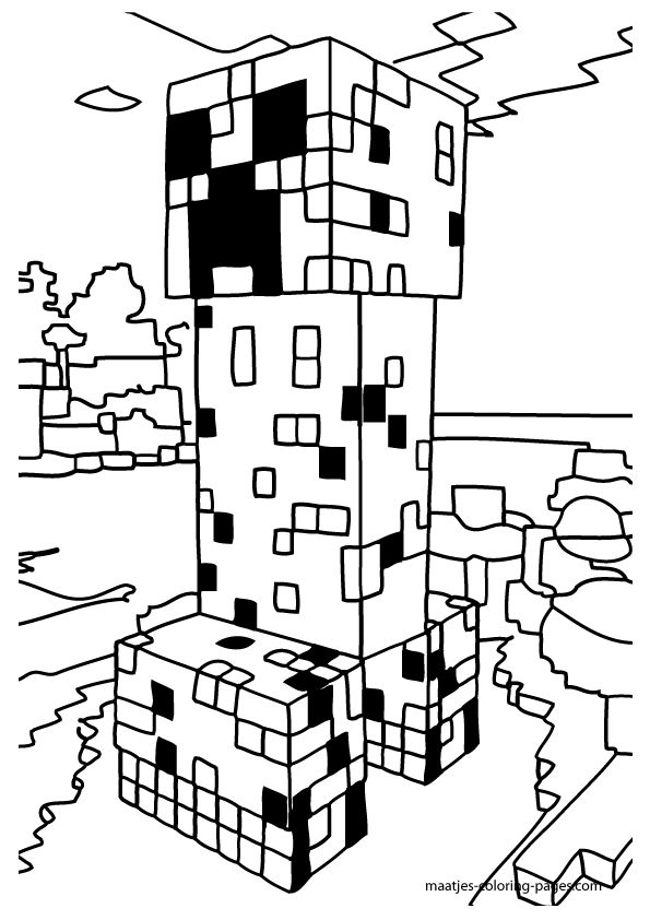 minecraft coloring pages to print az coloring pages