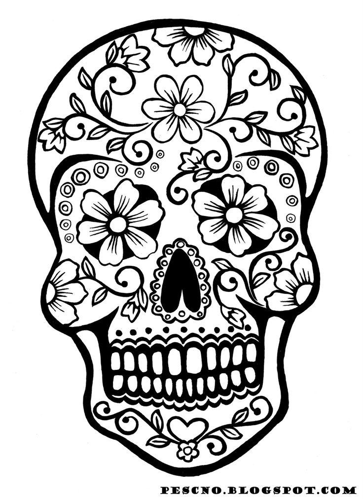 sugar skull coloring page az coloring pages