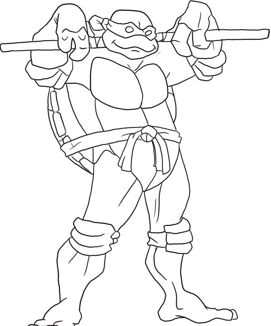 ninja turtle coloring pages to print az coloring pages