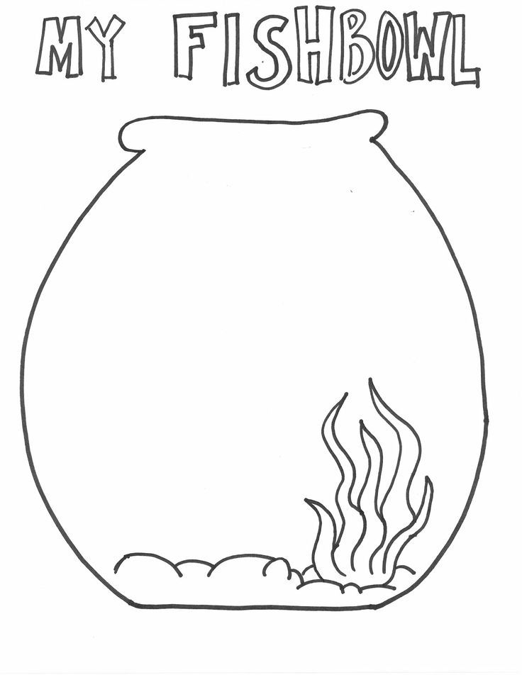fish bowl coloring page. fish bowl coloring page goldfish coloring ...