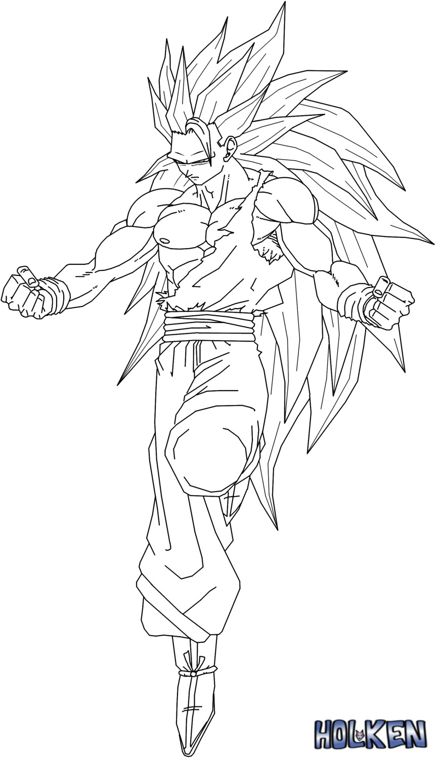 coloring pages of goku super saiyan 4 coloring pages now