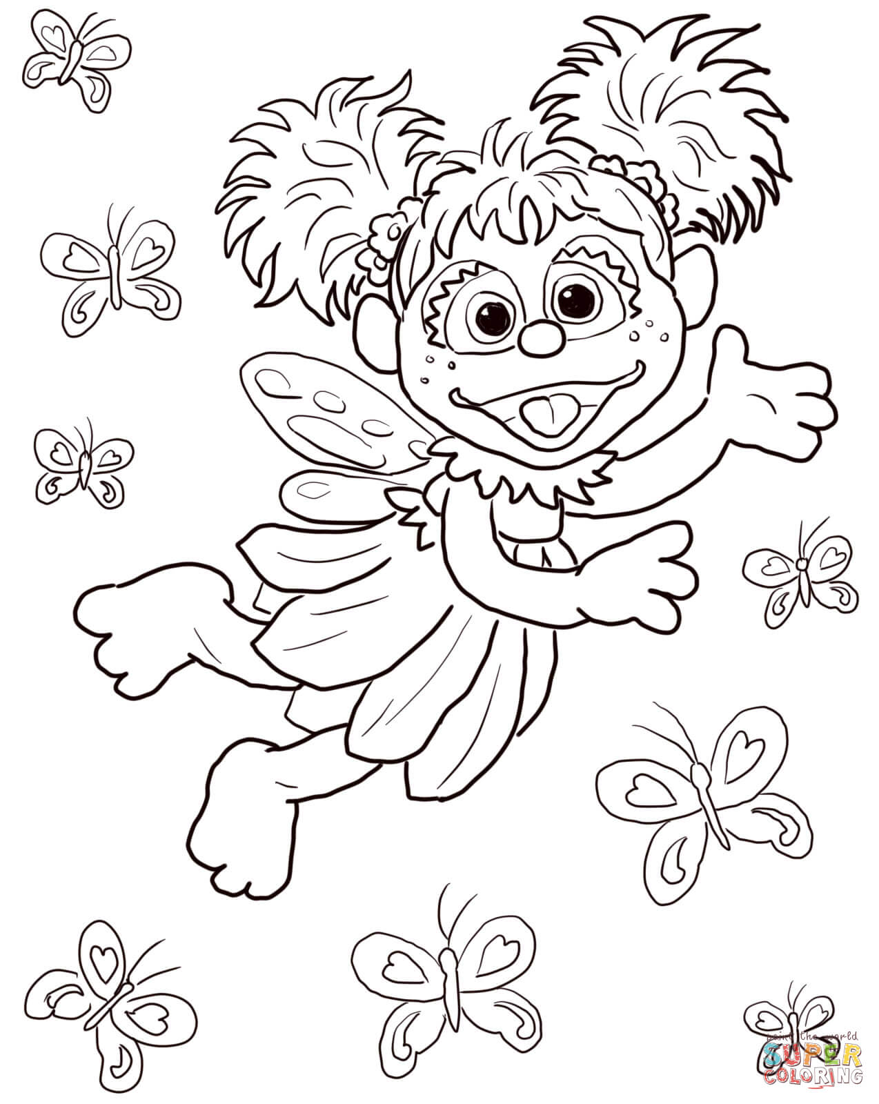 Sesame Street Coloring Pages For Toddlers