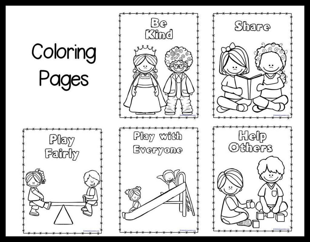 Worksheet For Preschoolers On Manners
