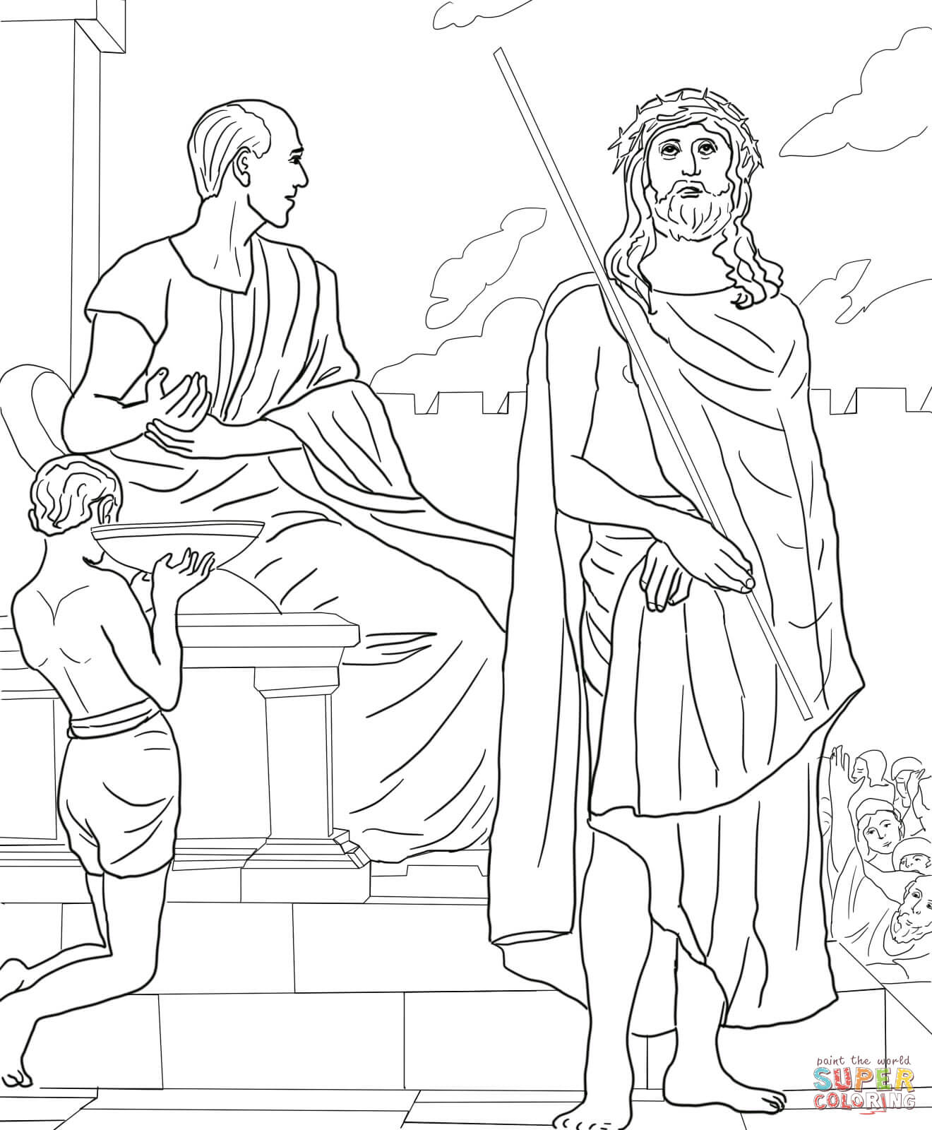 Jesus Stations Of The Cross Coloring Pages Sketch Coloring