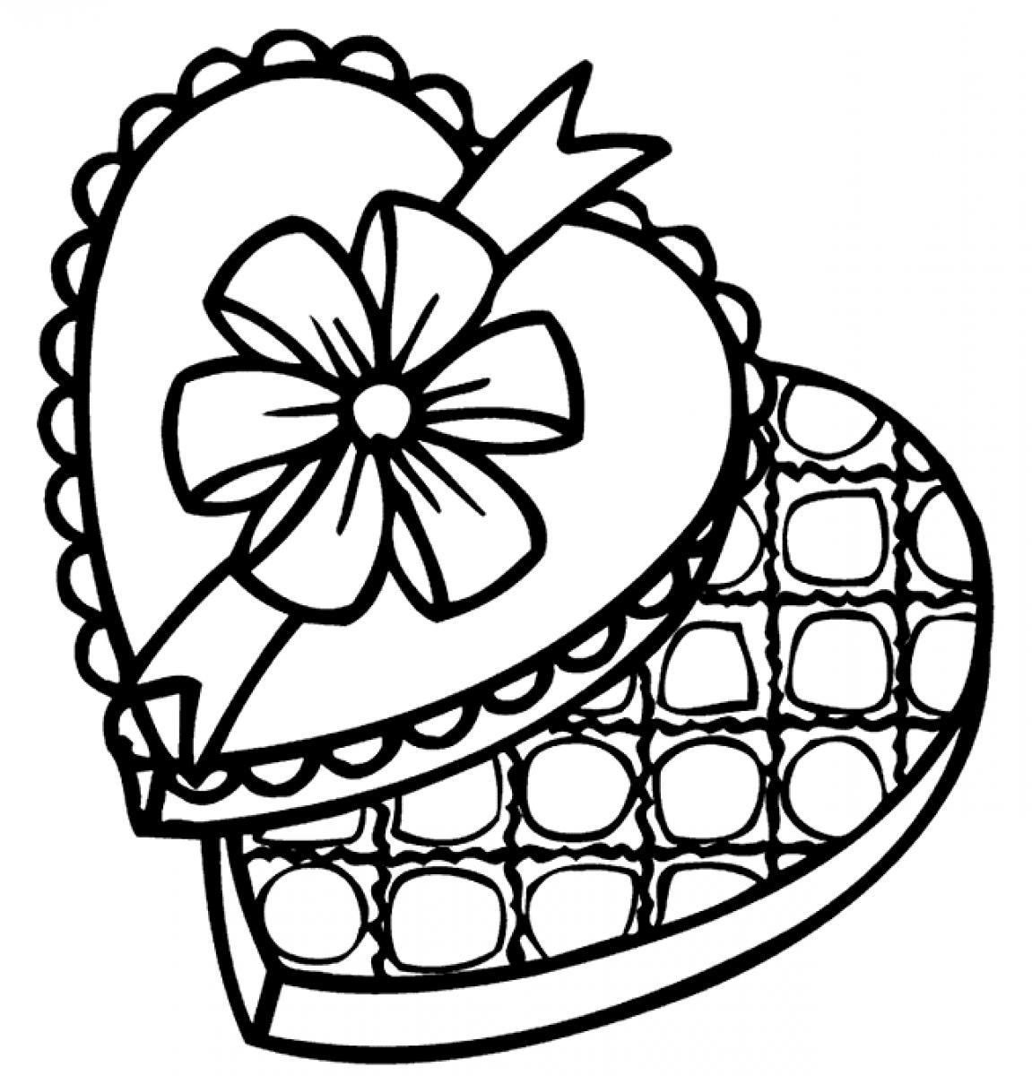 Chocolate Coloring Page