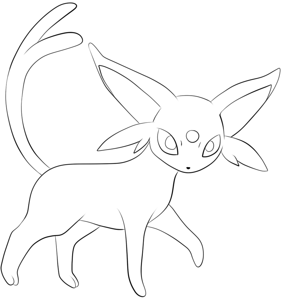 Umbreon and espeon coloring pages coloring pages now