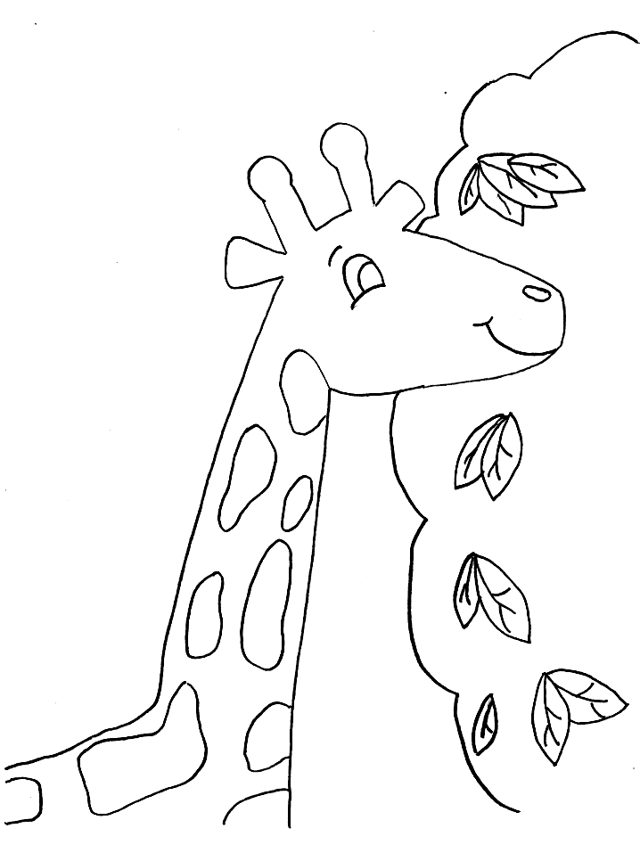 giraffe pictures to color az coloring pages