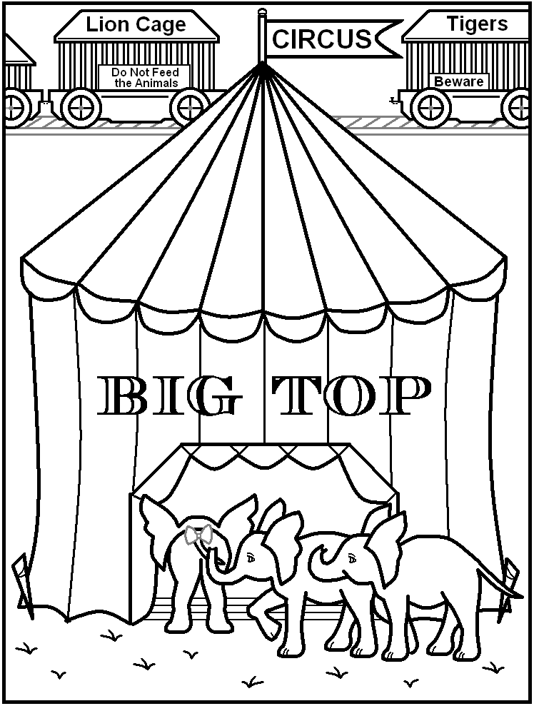 circus coloring pages az coloring pages