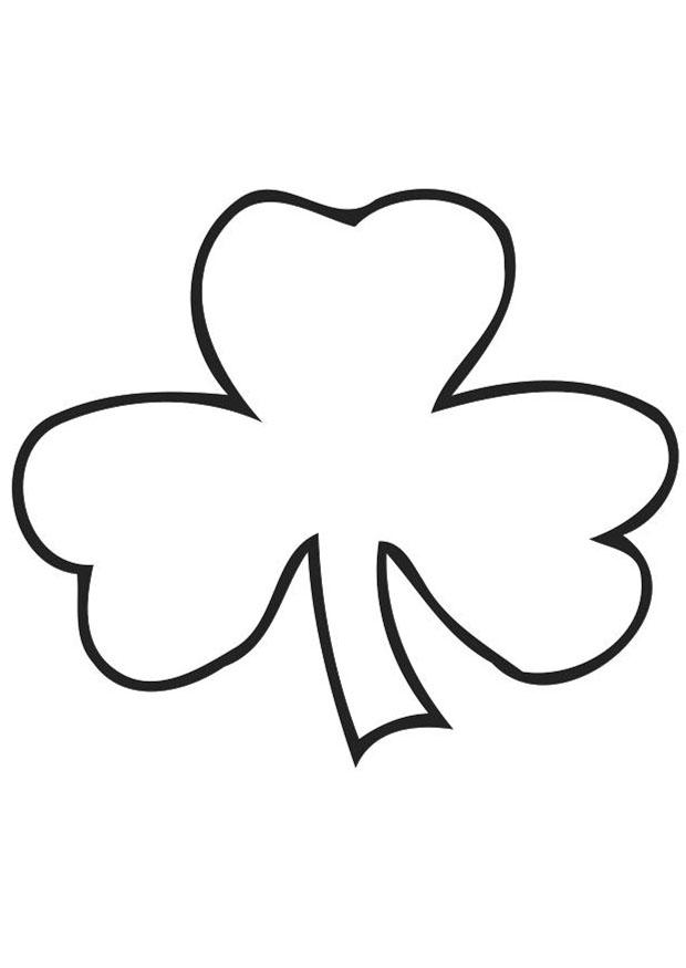 coloring page irish clover shamrock img 21703 az coloring pages