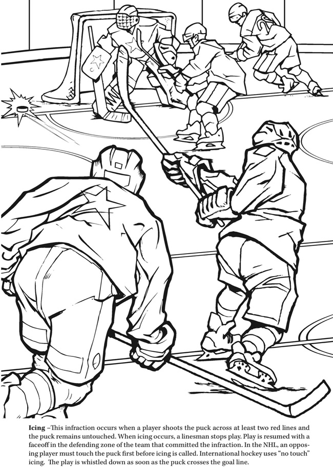 ice hockey coloring pages az coloring pages