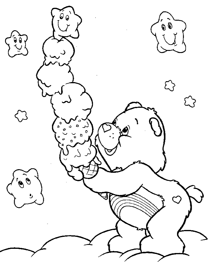 care bears coloring book pages az coloring pages
