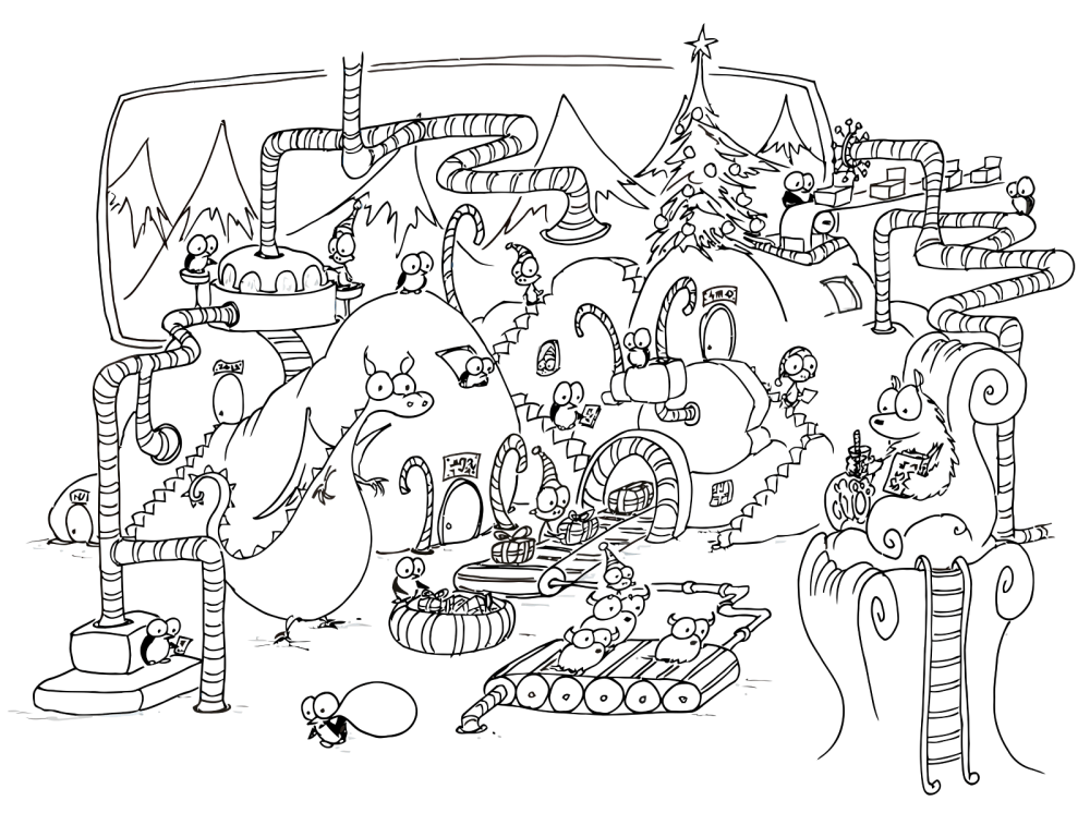 christmas coloring page free coloring pages for kidsfree